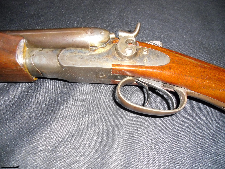 American Gun Co Of New York 28 Ga Double Hammer Shotgun
