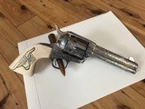Colt SAA .45 Single Action Army 4 3/4 3rd Gen Cattlebrand Engraved and Silver plated with Ivory Grips 4.75 - 1 of 15