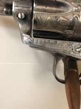 Colt SAA .45 Single Action Army 4 3/4 3rd Gen Cattlebrand Engraved and Silver plated with Ivory Grips 4.75 - 3 of 15