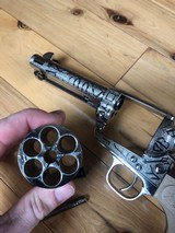 EMF Uberti Nickel cattle brand engraved 45 Colt Single Action SAA consecutive pair 4 3/4 - 14 of 15