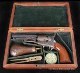 COLT MODEL 1849 POCKET PERCUSSION REVOLVER FINE CASED, ENGRAVED