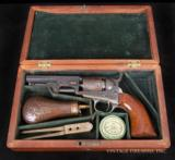 COLT MODEL 1849 POCKET PERCUSSION REVOLVER FINE CASED, ENGRAVED colt 1849 pistol