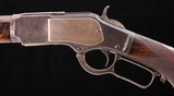 """Winchester 1873 DELUXE RIFLE – 3X WOOD, DOCUMENTED 28"""" BARREL, ANTIQUE, Vintage Firearms Inc"""