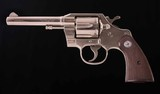 Colt Official Police – FACTORY INSCRIBED, NICKEL, COLT LETTER, 99%, vintage firearms inc