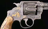 Smith & Wesson Hand Ejector 2nd Model .44 S&W - 1925, Engraving with Gold vintage firearms inc