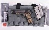 Wilson Combat .45 ACP – CQB ELITE, COLOR CASE, SALT BLUE NAKED SLIDE, NEW! vintage firearms inc - 1 of 18
