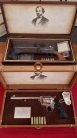Colt SAA Centennial Set US. 45 & 44-40 Caliber Peacemakers w/ Display Cases - 2 of 12