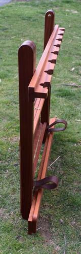 Mahogany Foldable Gun Rack with Brass furnishings - 6 of 6