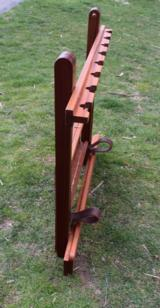 Mahogany Foldable Gun Rack with Brass furnishings - 5 of 6