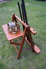 Mahogany Foldable Gun Rack with Brass furnishings - 2 of 6