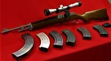 Ruger Mini 30 with scope and extras