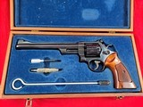 """Smith & Wessonmodel 27-2in 357mag WITH 8 3/8"""" BARREL IN IT'S WOODEN PRESENTATION BOX - 1 of 15"""
