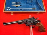 """Smith & Wessonmodel 27-2in 357mag WITH 8 3/8"""" BARREL IN IT'S WOODEN PRESENTATION BOX - 2 of 15"""
