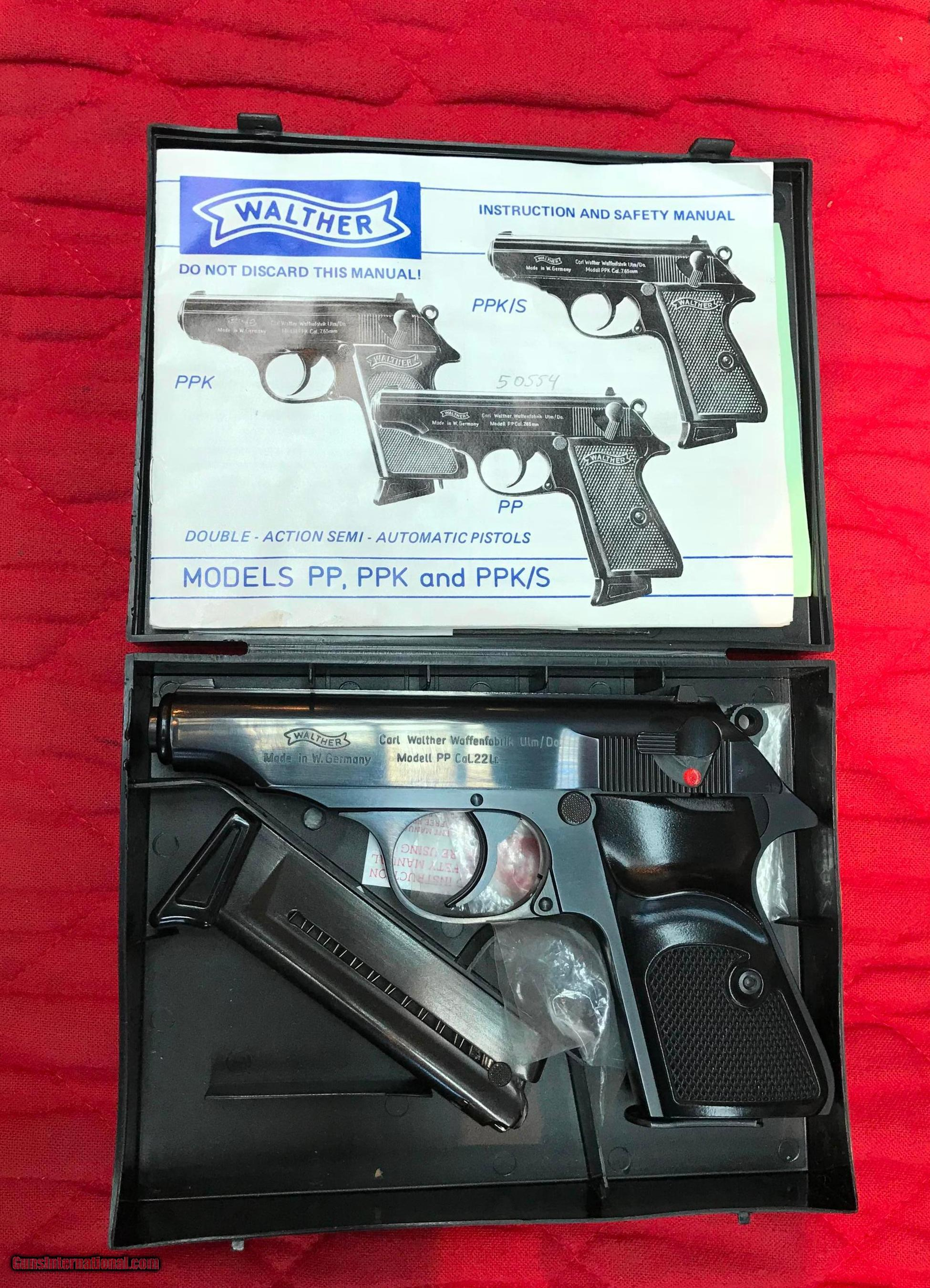 Walther PP 22LR 1982 with box and papers - 1 of 6 ...