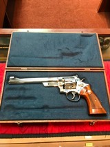 """Smith & Wesson 27-2 Nickel 8 3/8"""" with display case - 1 of 15"""