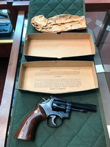 Smith & Wesson model 18-3 with original box and Rosewood grips