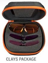Shooting Glasses Decot Hy-Wyd Three Lens Set w/FREE SHOTSHELL Leather Holder Columbian Leather - 2 of 6