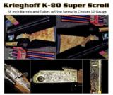 Krieghoff K-80 SuperScroll Briley Tube Set Ultimate Ultralite w/Americase and 17 Chokes Pristine Condition