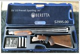 "Beretta SV 10 Prevail 1 12 gauge 30"" Sporting Shooting Set 5 External Chokes w/Free Custom Leather Pouch in January"