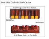 Custom Made Leather Shotshell Pouches/Belts for Skeet, Trap, Sporting Clays, Five Stand Chisled and Initialed - 9 of 9
