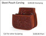Custom Made Leather Shotshell Pouches/Belts for Skeet, Trap, Sporting Clays, Five Stand Chisled and Initialed - 4 of 9