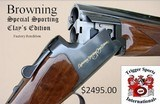 """Browning CitoriSpecial Sporting Clays Edition 12 Gauge 32"""" Barrels w/SKB Case & 8 External Chokes$2495 Plus Shipping: Make Offer as New - 1 of 15"""