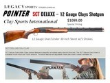 New Trigger Sports POINTER (LEGACY) IV 4 Gauge Skeet/Sporting Clays Set w/17 Chokes Case Optional - 2 of 15