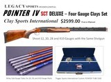 New Trigger Sports POINTER (LEGACY) IV 4 Gauge Skeet/Sporting Clays Set w/17 Chokes Case Optional - 1 of 15