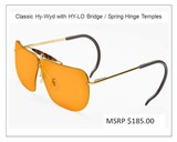 Decot Classic Hy-Wyd Glasses with HY-LO Bridge / Spring Hinge Temples all Lens Colors - 3 of 15