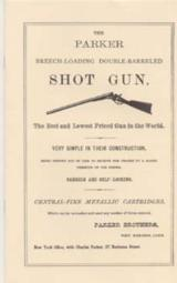 The Parker Shotgun 1860 Catalog Reprint