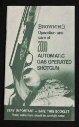Operation and Care of Browning 2000 Shotgun Reprint