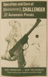 Operation & Care of Browning CHALLENGER .22 Automatic Pistol
