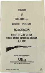 Take-Down and Assembly Instructions for Winchester Model 42 - 1 of 1