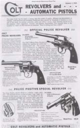 Colt 1934 Gun Company Catalog - 1 of 4