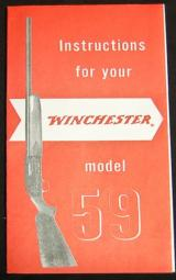 Winchester Model 59 Instructions Reprint