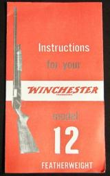 Winchester Model 12 featherweight Instructions Reprint - 1 of 1