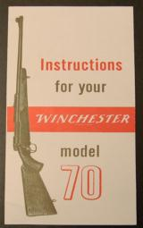 Instructions for Your Winchester Model 70 Reprint - 1 of 1