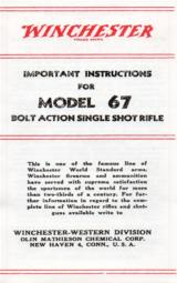 Winchester Model 67 Important Instructions - 1 of 1