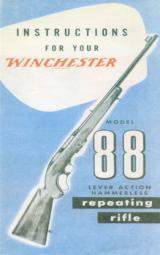 Winchester Model 88 Instructions - 1 of 1