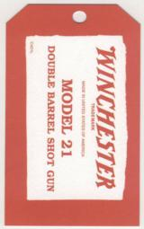 Genuine Licensed Winchester Model 21 Hang Tag