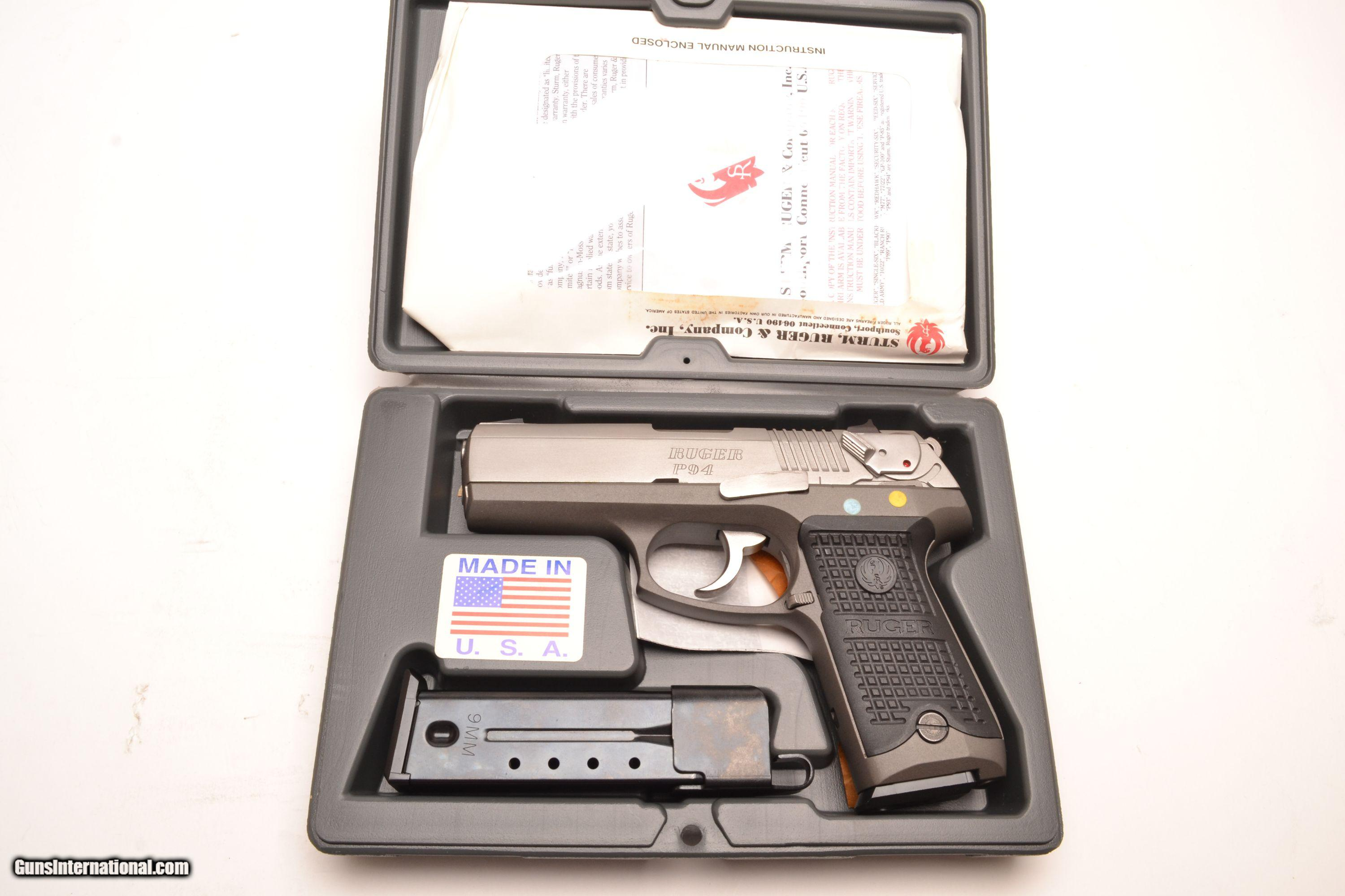 Sturm Ruger P94 Stainless Steel 9mm for sale