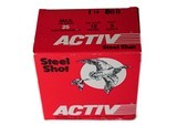 """Activ Steel Shot 12ga (3"""" Shell / 1 1/4 Oz / BBB) - 25 Pack *LARGE QUANTITIES AVAILABLE*"""