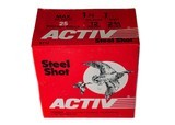 """Activ Steel Shot 12ga (2 3/4"""" Shell / 1 1/4 Oz / T Shot) - 25 Pack *LARGE QUANTITIES AVAILABLE*"""