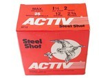"""Activ Steel Shot 12ga (2 3/4"""" Shell / 1 1/4 Oz / 2 Shot) *LARGE QUANTITIES AVAILABLE*"""