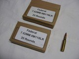 1 Full Box & 1 Partial Box Federal 7.62MM XM118LR Ammo