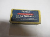 Peters Rustless 25 Automatic Ammo Partial Box