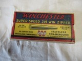 Full Box Winchester Super Speed 219 Zipper 20rds