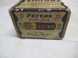 Full Box Peters Victor Rustless 20ga 2 Peice Box - 2 of 7