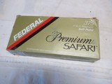 Full box 20 rds Federal Premium Safari 375 Ammo