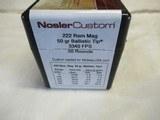 Partial Box Nosler Custom 222 Rem Mag Ammo - 2 of 3